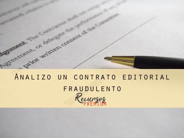 Analizo un contrato editorial fraudulento