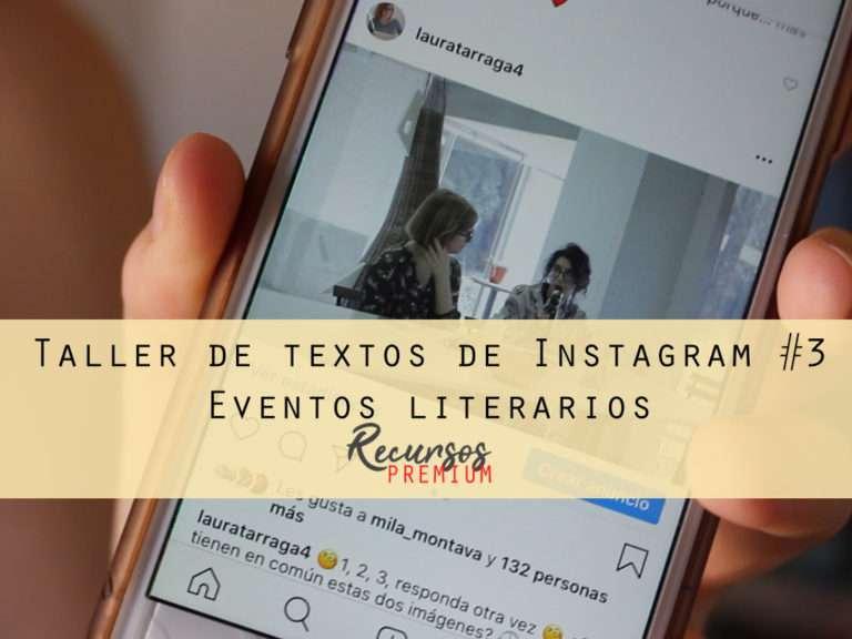 Taller de textos de Instagram #3 - Eventos literarios